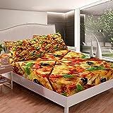 Erosebridal Pizza Bedding Set Deep Pocket, American