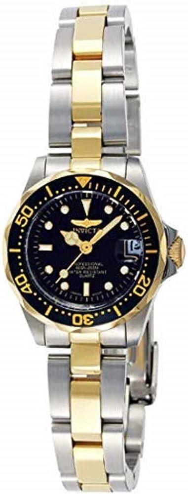 Invicta 8941 Pro Diver Reloj para Mujer acero inoxidable Cuarzo Esfera negro