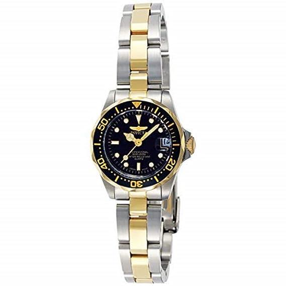 Invicta 8941 Pro Diver Reloj para Mujer acero inoxidable Cuarzo Esfera negro: Invicta: Amazon.es: Relojes