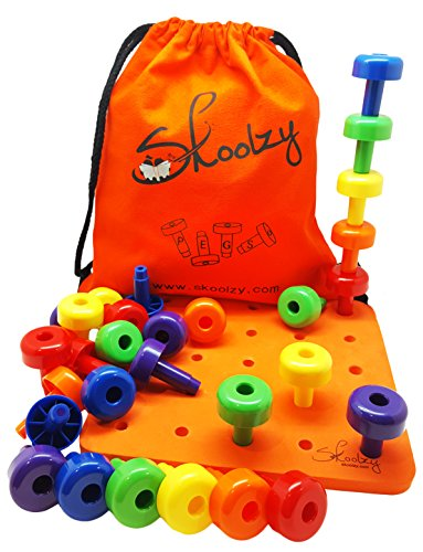 Skoolzy Peg Board Set Montessori Occupational Therapy