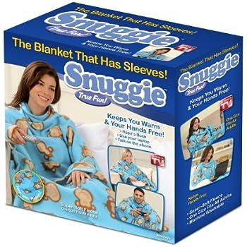 Snuggie Fleece Blanket with Sleeves, Monkeys