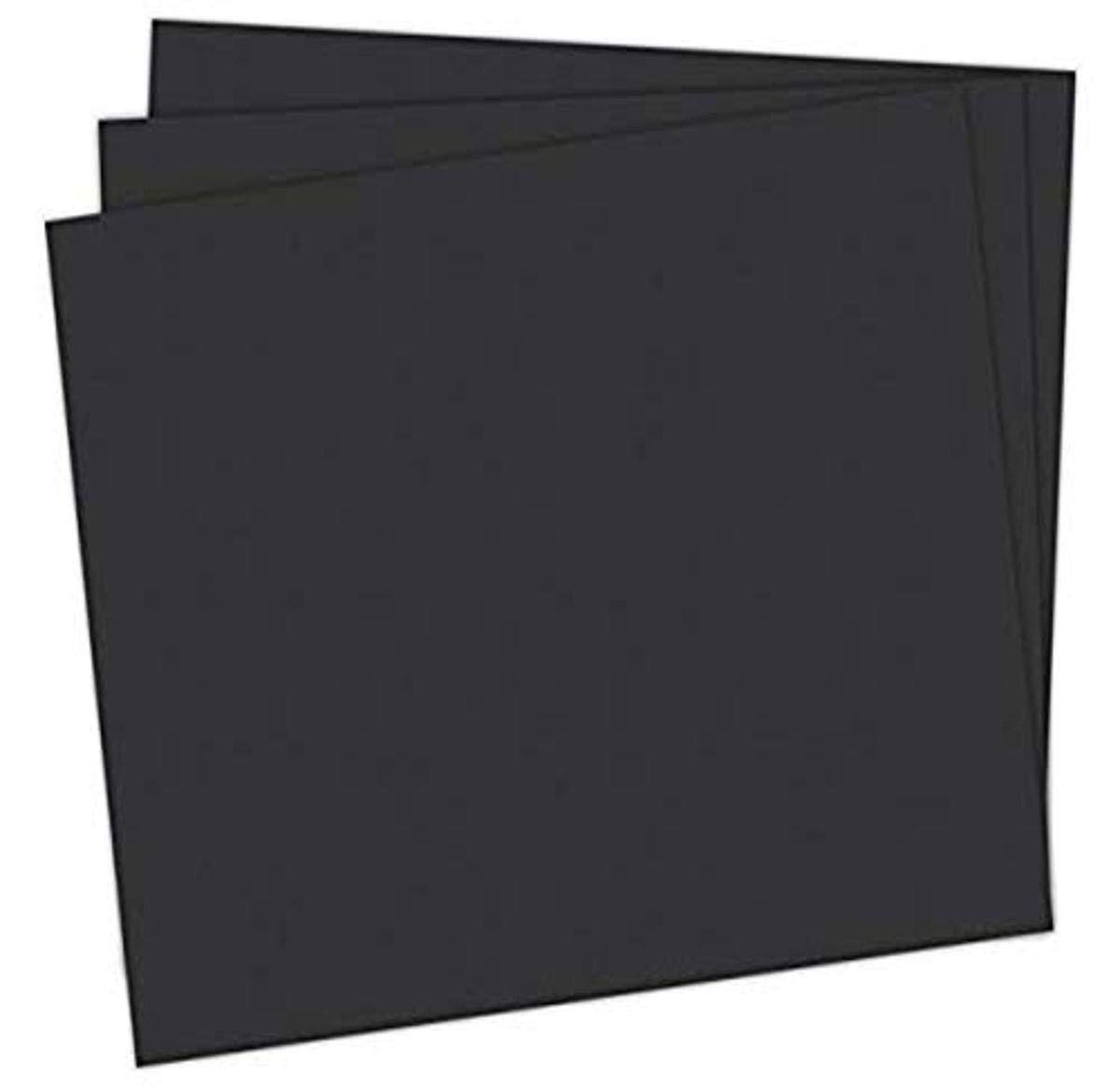 """School Smart 1485728 Railroad Board, 4-ply Thickness, 22"""" x 28"""", Black (Pack of 25)"""