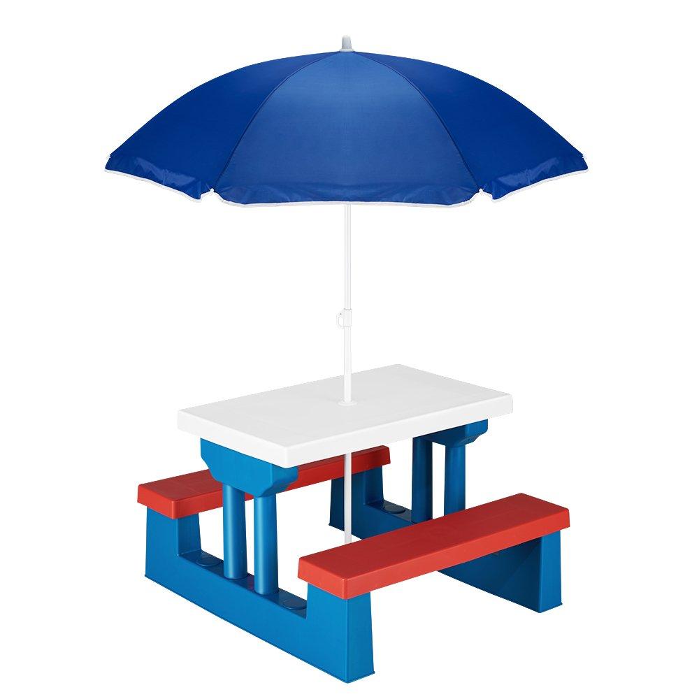 Kids Garden Table Picnic Bench Set Children Furniture Parasol Outdoor Seat Patio Chairs Sets furniture-uk-shop