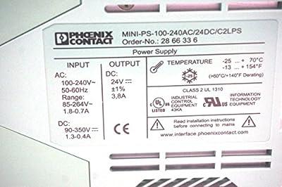 New Phoenix Contact Mini-ps-100-240ac/24dc/c2lps Power Supply Minips100240ac24dc