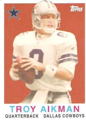 - 2008 Topps Turn Back the Clock #28 Troy Aikman - Dallas Cowboys (Hall of Famer)(Football Cards)