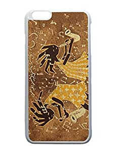 White iphone 6 plus Case - Two Sax Players Customized Photo Design Durable Hard Case Cover For iPhone 6 Plus 5.5