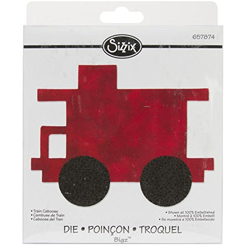 Die Train - Sizzix Westminster Bigz Dies, Train Caboose Clear Die