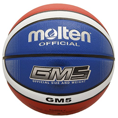 Molten BGMX6-C Bgmx-C Basketball, Red/White/Blue, Intermediate Size 6