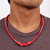 Phiten Classic Necklace, Red, 22