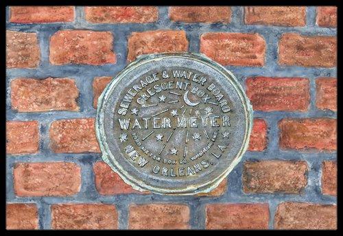 Caroline's Treasures New Orleans Watermeter on Bricks Ind...