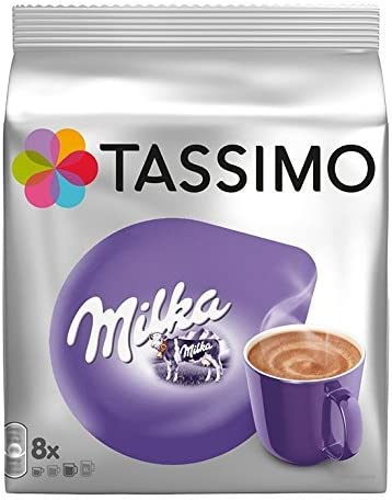 Tassimo T Discs Milka Hot Chocolate Flavour Drink 8 Servings