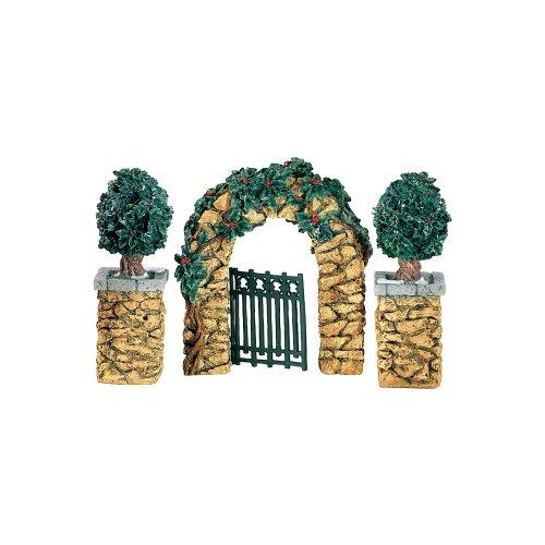 Village Stone Holly Corner Posts & Archway (Set of 3)