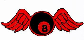Rabana rojo negro 8 ocho bola billar piscina con alas Flying bola ...