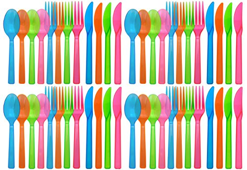 Assorted Blacklight Reactive Plastic Cutlery product image