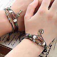 Meenanoom 2 PCS Couples Bracelet Lovers Braclet His & Hers Lock and Key Friendship Newest