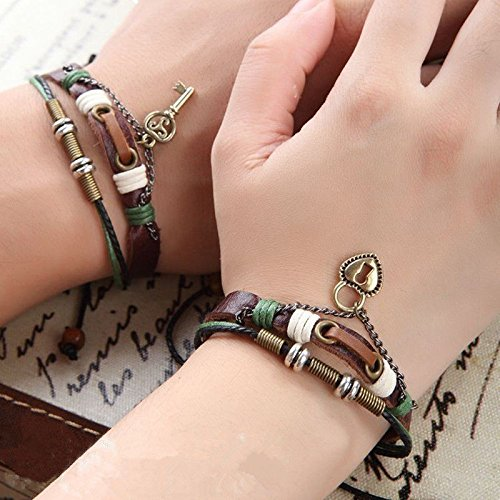 Meenanoom 2 PCS Couples Bracelet Lovers