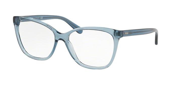 Polo 0PH2183 Monturas de gafas, Mariposa, 56, Crystal Blue: Amazon ...