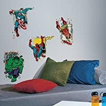 RoomMates RMK2773TB Marvel Superhero Burst Peel and Stick Giant Wall Decals, 18-Inch X 40-Inch