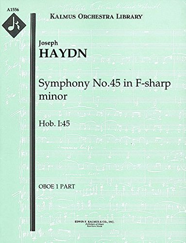 Symphony No.45 in F-sharp minor, Hob.I:45: Oboe 1 and 2 parts (Qty 2 each) [A1556]