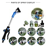 Gardener Watering Wand, Lawn and Garden Hose Nozzle Sprayer Wand Car Wash Nozzle with 7 Adjustable Spray Patterns Perfect for Hanging Baskets, Plants, Flowers, Shrubs, Garden and Lawn, Car Wash