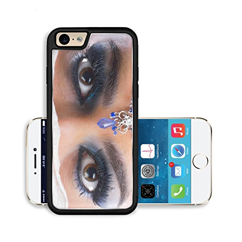 Liili Premium Apple iPhone 6 iPhone 6S Aluminum Backplate Bumper Snap Case IMAGE ID: 20148536 Fashion Beauty Beautiful Woman With hairsyle and Luxury Makeup isolated on white background in studio Beau