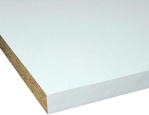 4 Seiten umleimt M/öbelbauplatte Regalbrett Glanzwei/ß 2000 x 200 x 22 mm