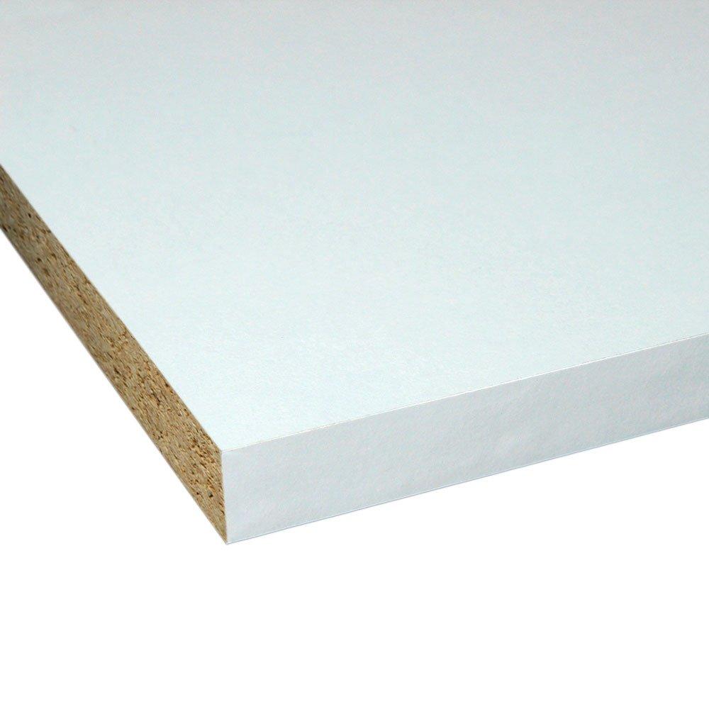 M/öbelbauplatte Regalbrett Wei/ß 1500 x 400 x 16 mm 4 Seiten umleimt