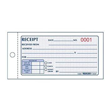 Rediform Money Receipt Book, Carbonless, 2.75 X 5.625 Inches, 50 Duplicate  (8L820  Blank Reciept