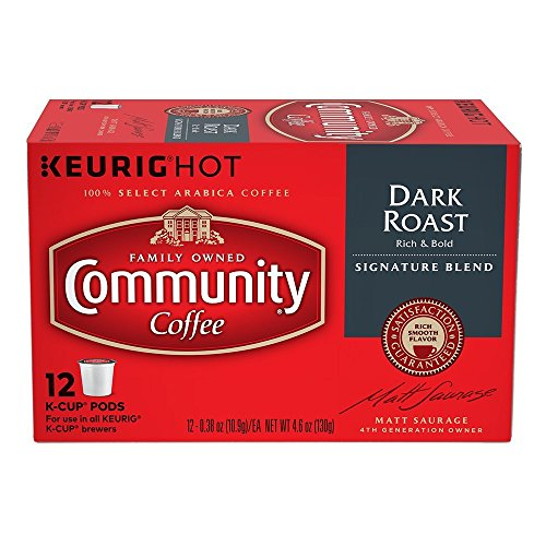 Community Coffee Single-Serve Cups, Dark Roast, 72-Count by Community Coffee
