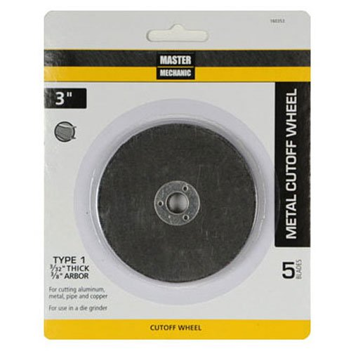 3 Inch x 3//32 Inch Cut Off Wheel TV Non-Branded Items Inch x 3//8 Master Mechanic 160353  5 Pack