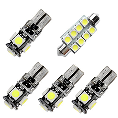 For Ford Explorer Led Interior Lights Led Interior Car Lights Bulbs Kit White 2011-2018 5Pcs ()