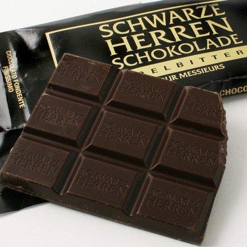 Schwarze Herren Schokolade (Extra Bitter German Chocolate) (3.5 ounce)