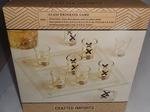 TIC-TAC-TOE Shot Glass Drinking Game Set Brand New