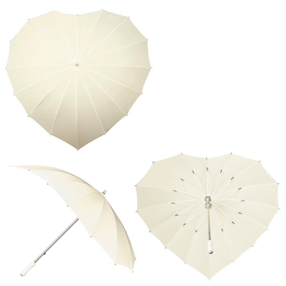 Impliva Coraz/ón Paraguas con protecci/ón UV/ /Color Blanco