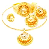 Yulaili Costume Traditional Native African Jewelry Necklaces Bracelets Statement Ethiopian Women Cross 24k Gold Plated Wedding Jewellery Set South Africa