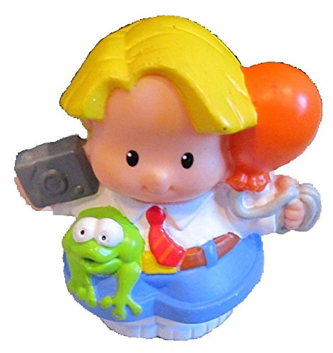 Little People Fisher Price Birthday Party Play Set Replacement Eddie Holding Camera, Orange Balloon