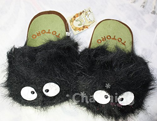 My Neighbor Totoro Ghibli Dust Bunny Adult Soft Plush Slippe