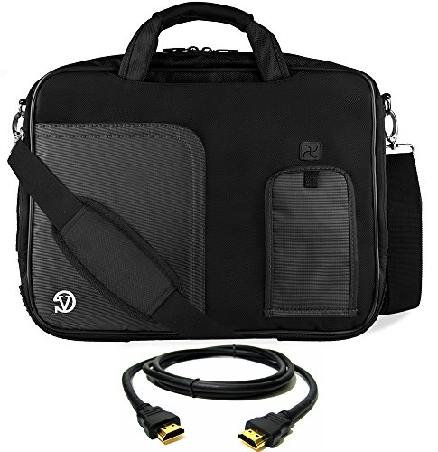 Toshiba Tecra Wireless (VanGoddy Jet Black Laptop Bag w/ HDMI Cable , Mouse & USB Hub for Toshiba Tecra Series 14