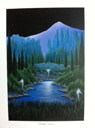 Twilight Visitation Lithograph Print by Artist of Hope, Steven Lavaggi