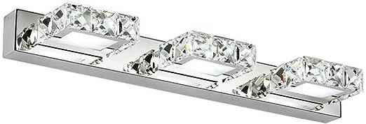 Etelux 15W Cristal Lampe Miroir Salle de Bain Blanc Froid Luminaire Salle de Bain Applique LED Salle de Bain