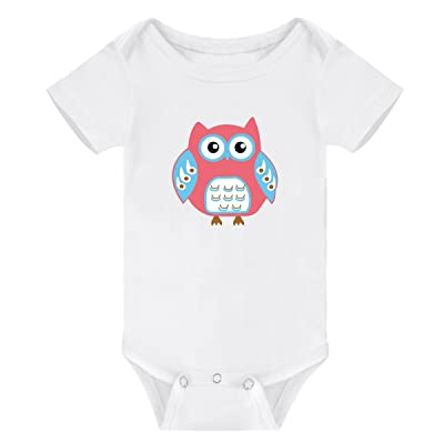 Amberetech Baby Romper Outfit Funny Animals Cartoon Short Sleeve Jumpsuit For Infant Boys Girls