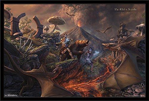 Trends International Framed Poster Elder Scrolls Online-Batt