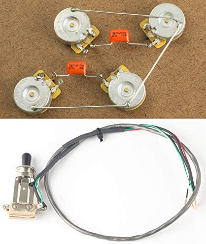 [DIAGRAM_5FD]  Amazon.com: Tall Les Paul Harness w/Switchcraft Toggle CTS Long Shaft 500K  Pots and Switch: Musical Instruments | Details About Wiring Harness For Les Paul Cts Pots |  | Amazon.com