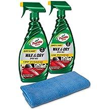 Turtle Wax 50834 1-Step Wax & Dry - 26 oz. (Pack of 2) with Microfiber Towel