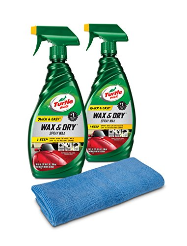 Turtle Wax 50834 1-Step Wax & Dry-26 oz. Double Pack with Microfiber Towel, 52. Fluid_Ounces, 2
