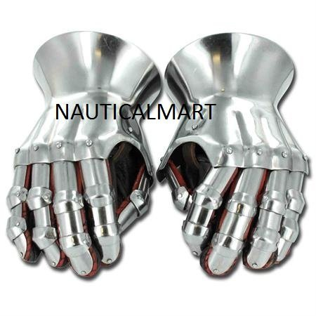 Medieval Renaissance Functional Hourglass Gauntlets Set by NAUTICALMART