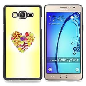 Stuss Case / Funda Carcasa protectora - Pascua Amarillo Acuarela Amor - Samsung Galaxy On7 O7