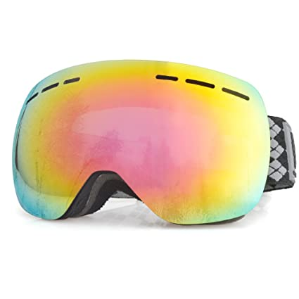 c08a594bb5e9 ZSCOO Snowledge Kid s Frameless Detachable Ski Goggles Anti Fog Anti  Scratch Snowboarding Goggles Men Women 100% UV Protection REVO Mirror