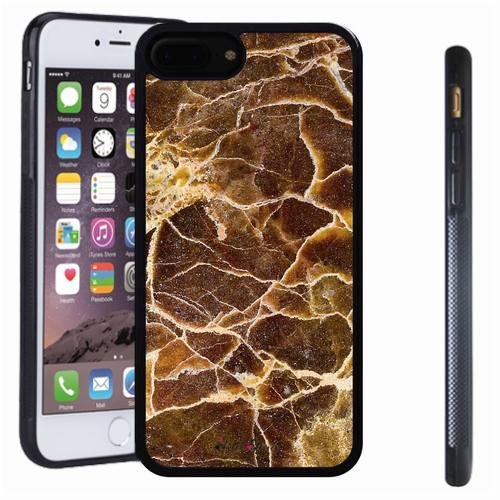 iphone 7 8 Plus case, SoloShow(R) Slim Shockproof TPU Soft Case Rubber Silicone for Apple iphone 7 8 Plus [Brown 2] -