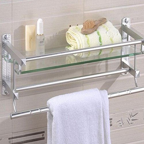 GGGarden Multifunctional Glass Bathroom Shower Shelf Rack Ho